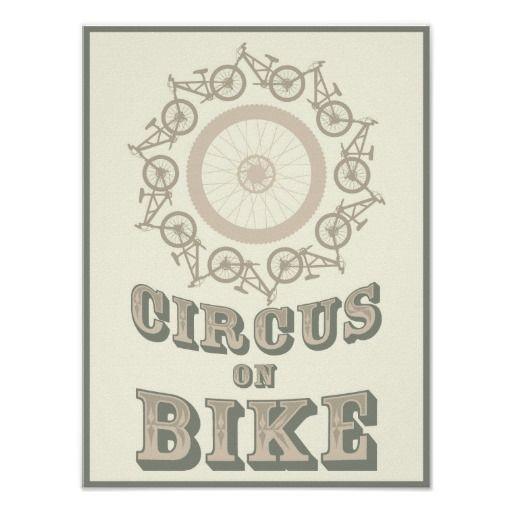 Circus on bike poster
