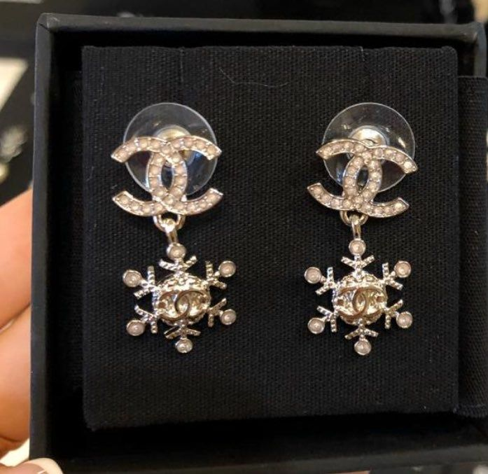 Chanel Snowflakes Earrings New In Box Never Worn Retail 599 Chanel Earrings Earrings Jewelry