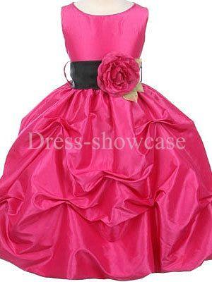 Sleeveless Ball Gown Summer Scoop Floor-Length Flower Girl Dress #flowergirls #flowergirldress #cutedress #dress #beauty #cute #wedding #birthdaydress