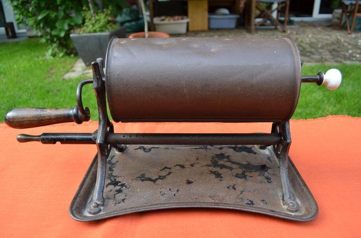 19. Jahrhundert Antike Eisen Kurbel Kaffeeröster Röstmaschine Coffee Roaster…