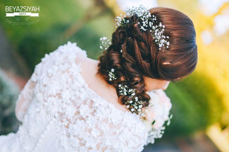 Hair , flowers, Wedding , Bride
