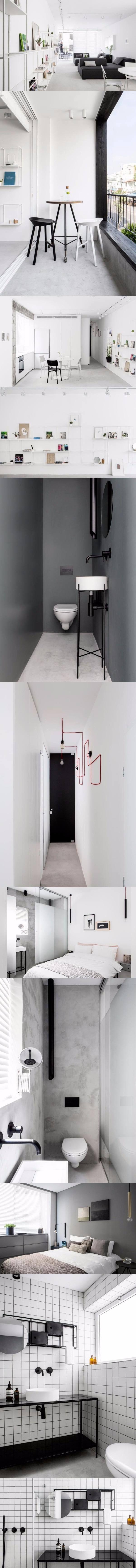 Apartamento minimalista /http://design-milk.com/