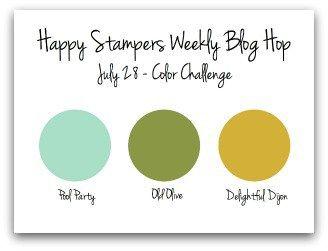 Happy Stampers Color Challenge July 28 2016