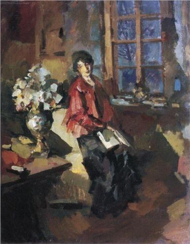 Actress Hope Komarovskaya, 1919  - Konstantin Korovin (Russian, 1861-1939)…
