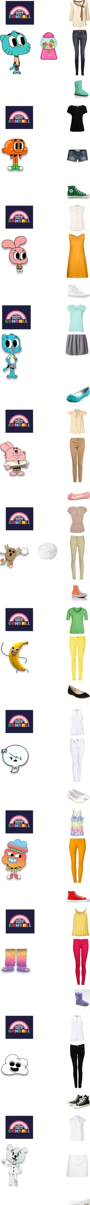 """""""The Amazing World of Gumball"""" by briefcase on Polyvore"""