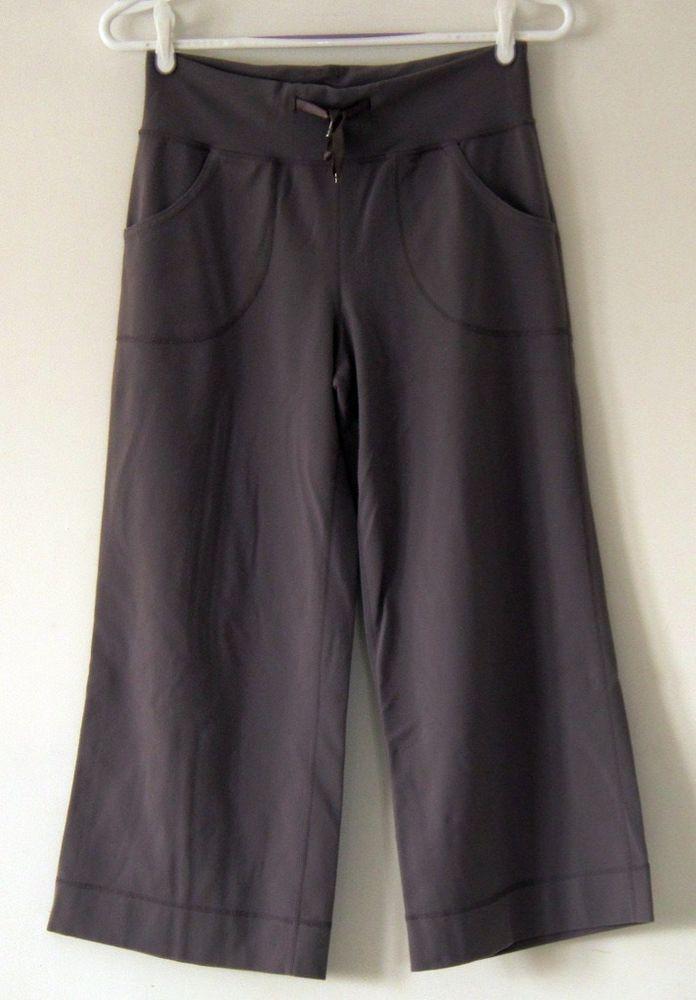 Lululemon gray grey crop athletic yoga 4 #Lululemon #PantsTightsLeggings