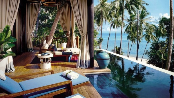 It would be easy to get used to the pampering at Four Seasons Resort Koh Samui in Thailand.  #kohsamui #thailand #fourseasons #hotel #island #tropical #beach #beautiful #wanderlust