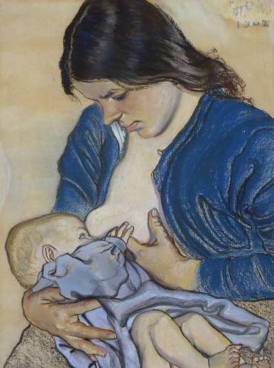 """Stanisław Wyspiański, """"Motherhood"""" , pastel, 1902, National Museum, Warsaw."""