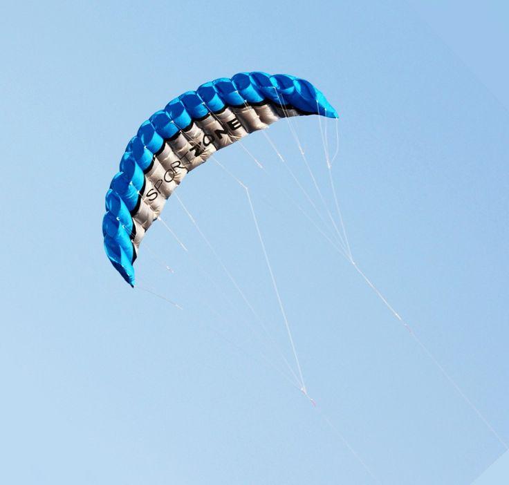 Cool Outdoor Toys 2.5m 4 Colors Dual Line Parafoil Kite WithFlying Tools Power Braid Sailing Kitesurf Rainbow Sports Beach