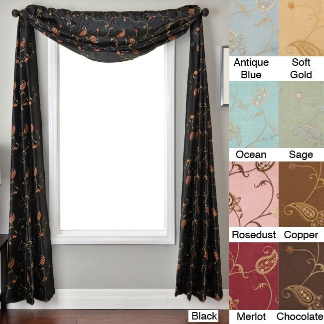What are some tips for using window scarf holders?
