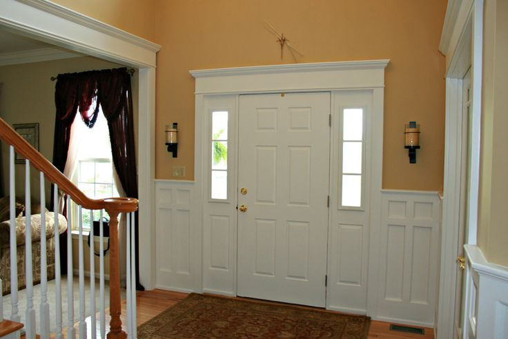 Mission Style Recessed Panel Wainscoting Front Door