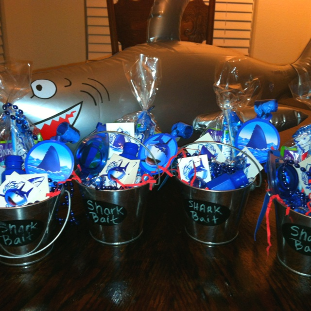 Colby's 8th Bday Party Favors.... Shark Week