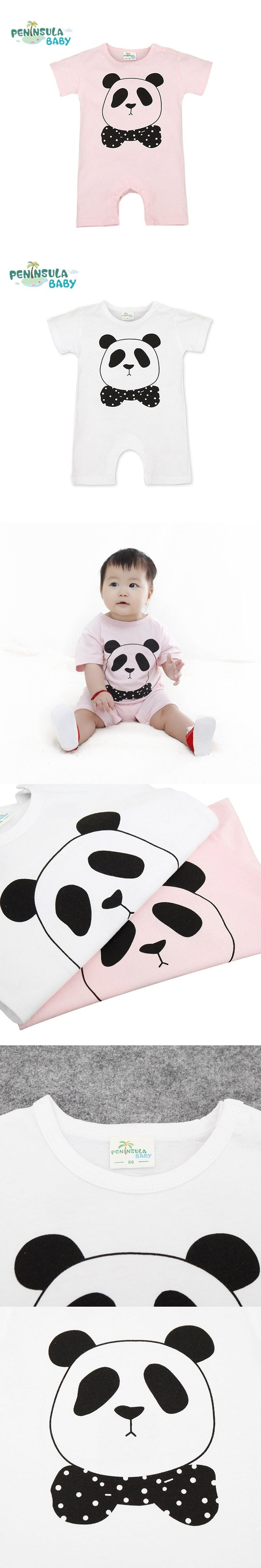 Hot Summer New Baby Rompers Cartoon Panda Casual Short Sleeve Jumpsuits New Born Boys Girls Clothes Cute Toddler Costume
