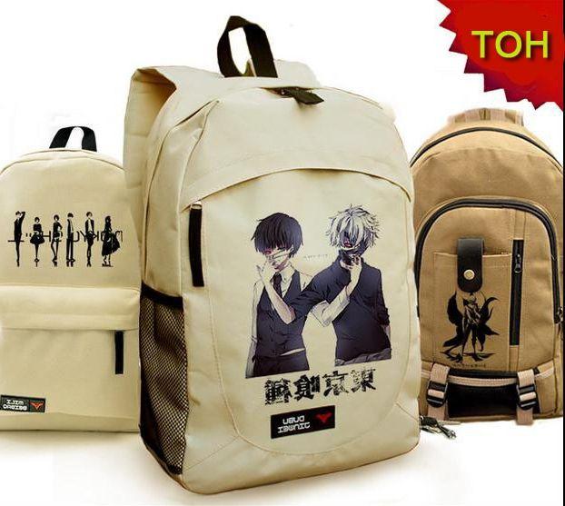 28.79$  Buy here - http://aligog.worldwells.pw/go.php?t=32272339319 - canvas Kaneki Ken school bags anime cartoon tokyo ghoul bag travel backpack 28.79$