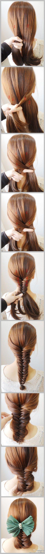 French Braids, Fish Tail, Hair Colors, Longer Hair, Fishtail Bun, Hair Style, Fishtail Braids, Big Bows, Fashion Women