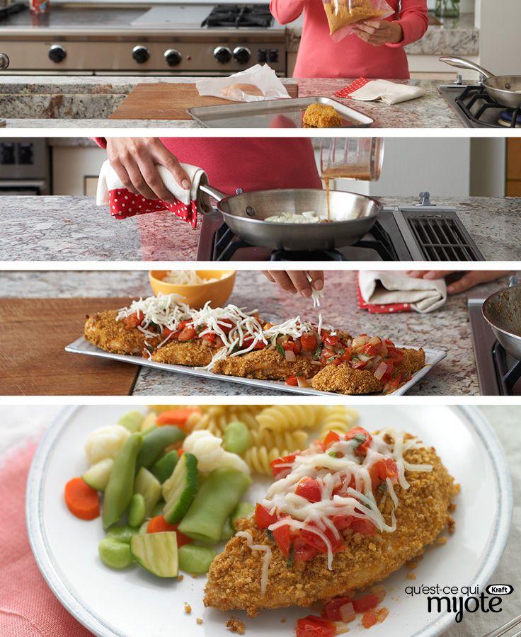 Poulet parmigiana à la sauce tomate #recette