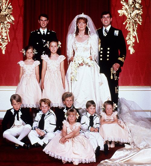 Iconic Weddings Prince Andrew And Sarah Ferguson The Newlyweds Are Joined By Their Attendents Including William His Cousin Zara Centre