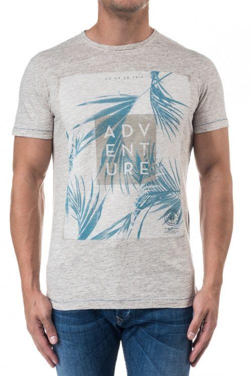 Camisolas, t-shirts, pólos e tops | T-shirt decote redondo com gráfico | Salsa