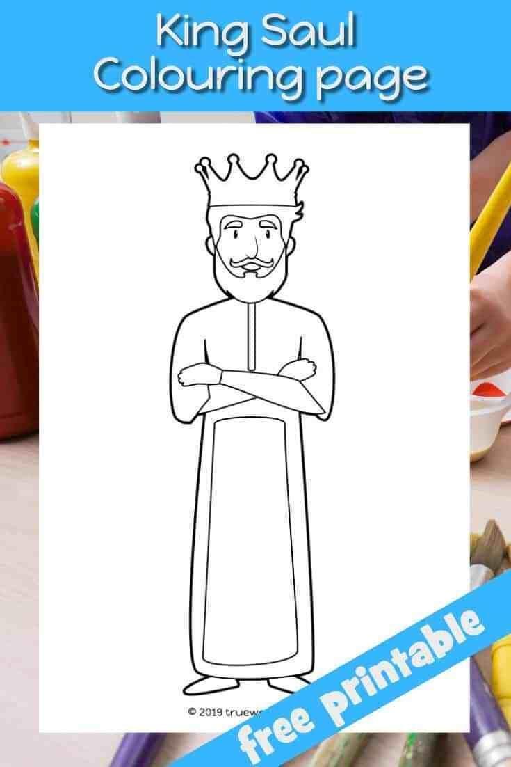 King Saul Coloring Page Preschool Bible Lesson Trueway Kids