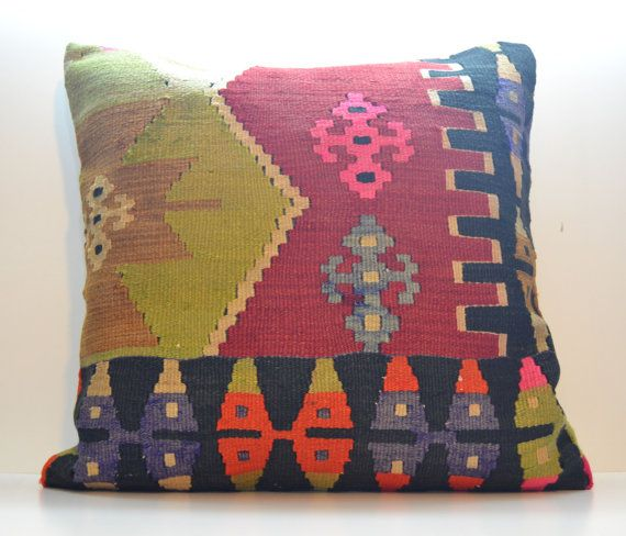 Hey, I found this really awesome Etsy listing at https://www.etsy.com/listing/178265103/60x60-24x24-red-pink-pillow-cover-kilim