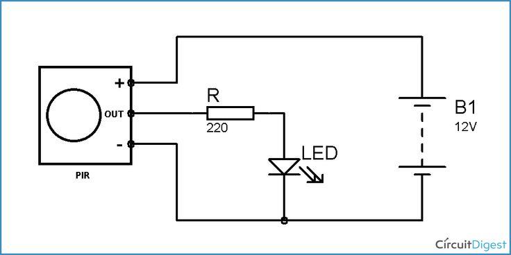 motion sensor light switch circuit diagram