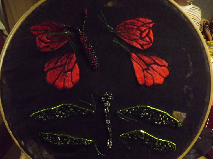 work in progress: dragonfly and butterfly