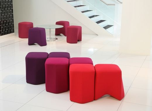 Epic Hoot A versatile collection of modular stools that can be nested together or used as individual pieces designed by Boss Design and available through