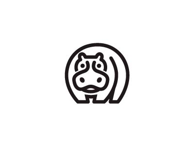 Dribbble - Hippo Line by George Bokhua
