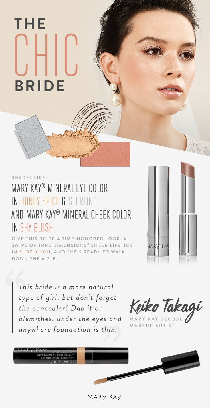 This bride embraces tried-and-true wedding traditions with a subtle, chic makeup look that enhances her natural beauty!   Mary Kay
