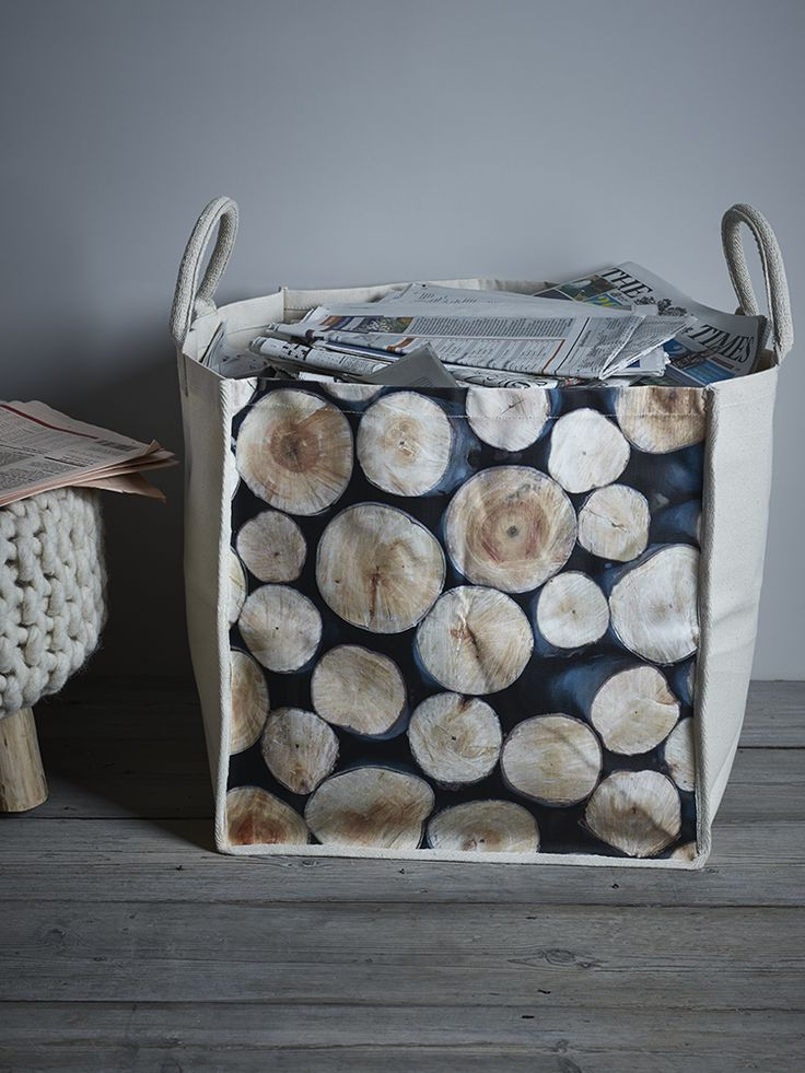 Log Print Storage Bag