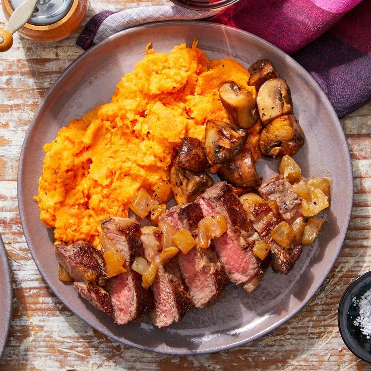MasterChef & Cheesy sweet potato puree with sautéed mushrooms and caramelized onions   – Recipies