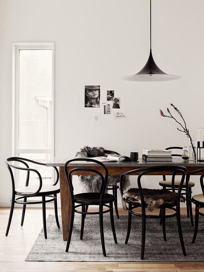 bentwood chairs in black