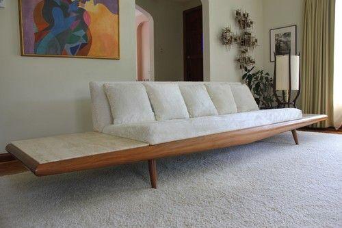 Mid Century Adrian Pearsall Sofa for Craft Associates Danish Modern Couch | eBay