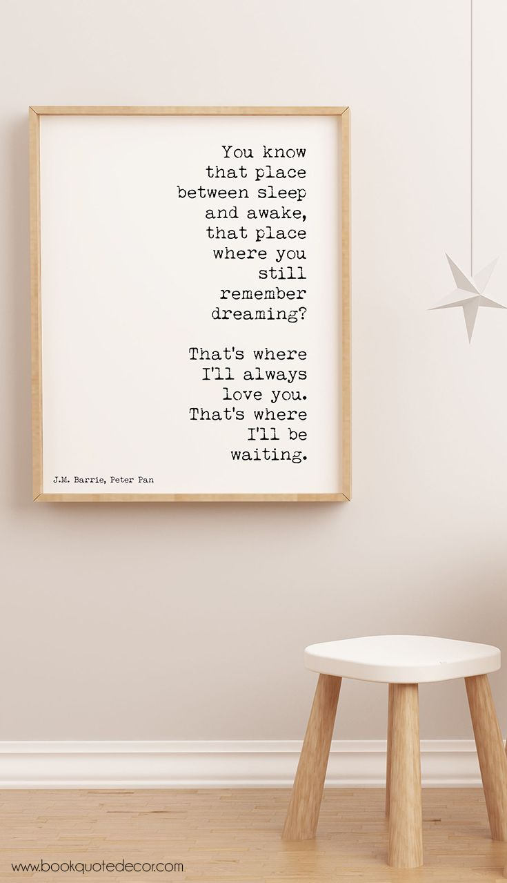 1167 best book quote decor images on pinterest art ideas discover home decor ideas for walls art print poster with a peter pan quote amipublicfo Gallery