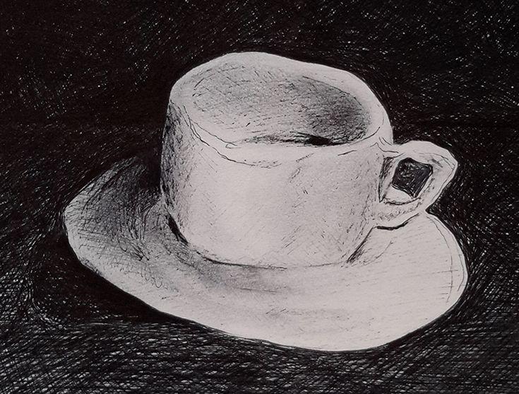 """""""η koupa ελιωσε"""" πραγματικη με ζεστο καφε που καποτε ηπια. τι ειναι αυτο που με εκανε να την δω παραμορφωμενη;... μηπως η ανία; ή μηπως ..."""