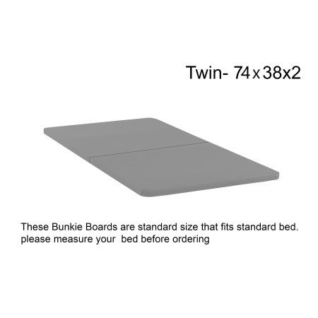 Grey Twin Continental Mattress 1.5 Fully Assembled Foundation Bunkie Board