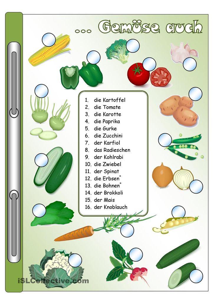Gemüse_Bilder & Wörter + Gitterrätsel