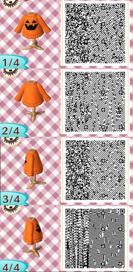 Halloween Sweater Animal Crossing New Leaf Qr Codes