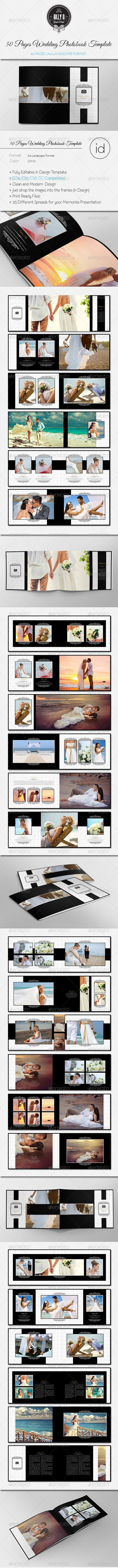 50 Pages  Wedding Photobook Template