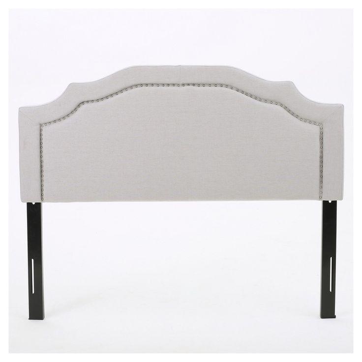 Broxton Upholstered Headboard - Light Grey - Full/Queen - Christopher Knight Home, Light Gray