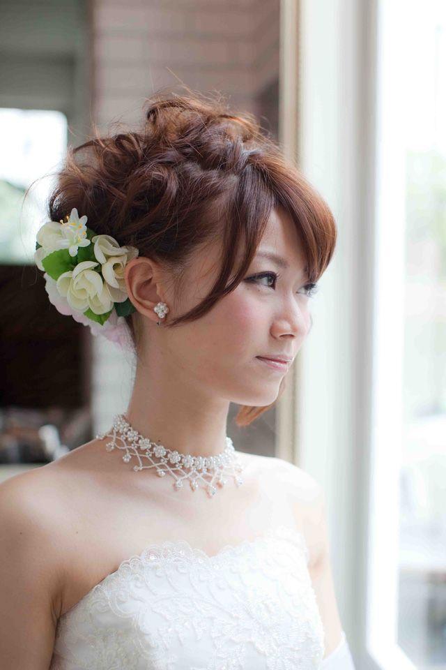 花飾り・アップヘア