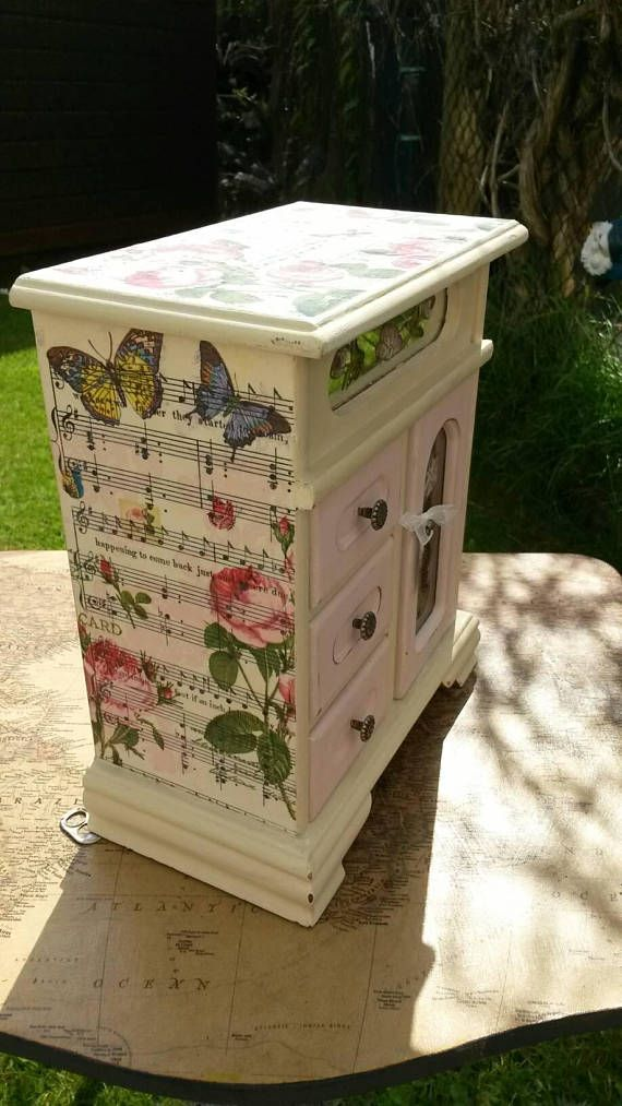 Check out this item in my Etsy shop https://www.etsy.com/uk/listing/550061417/shabby-chic-musical-jewellery-box-hand