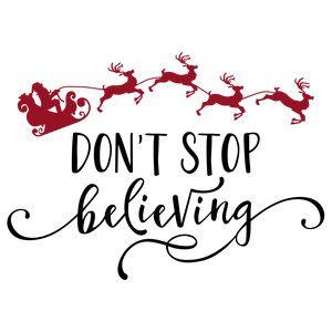 Silhouette Design Store: don't stop believing santa