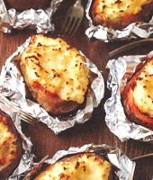 shepherd's pie served in a baked potato shell - ideal for bonfire night!
