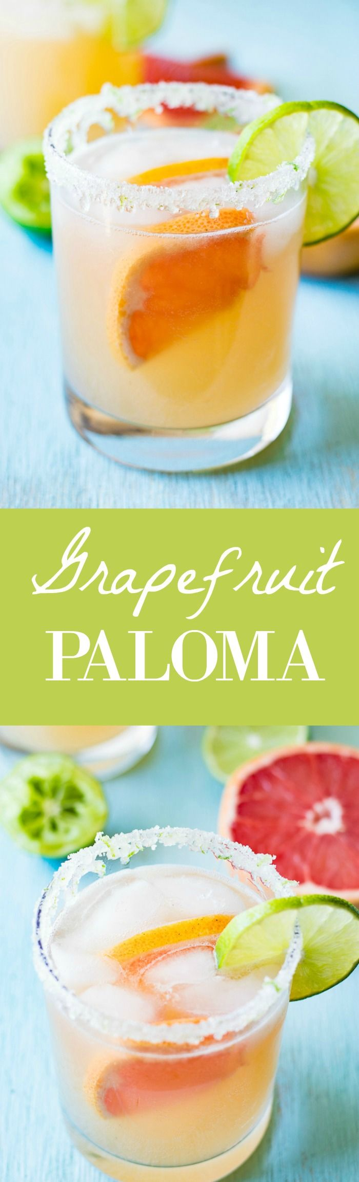 This Grapefruit Paloma recipe is so refreshing and classy!  This easy to make cocktail is made with fresh grapefruit juice and tequila. This is the perfect drink for sipping on this weekend!