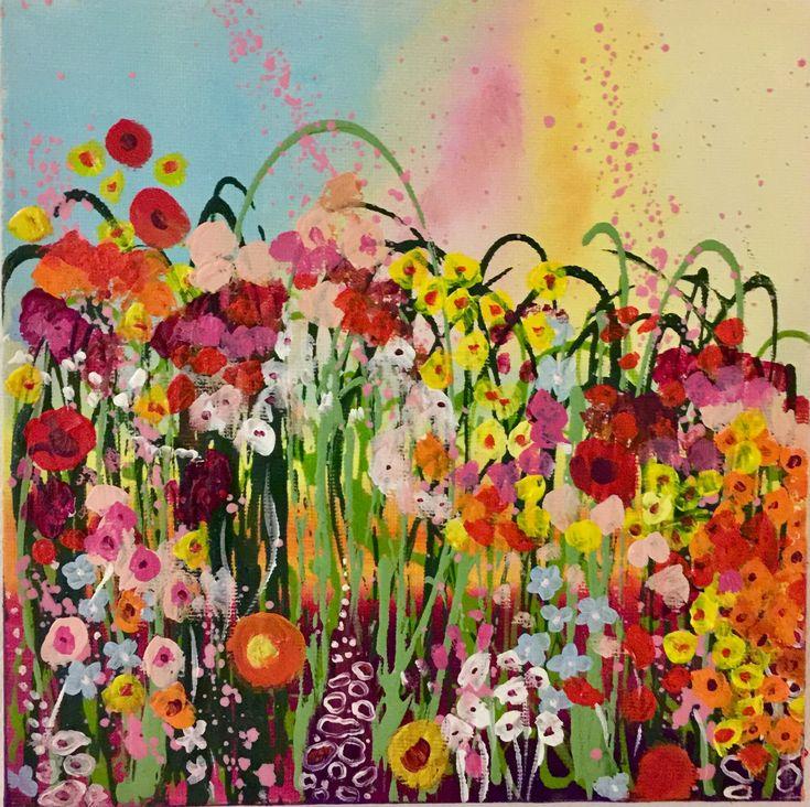 Summer flowers # abstractflowers @mypoppy_art