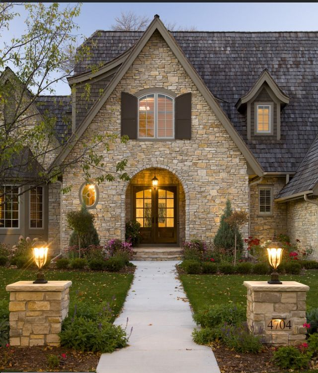 Feng shui home step 2 front door and entry decorating for Stone and brick home designs