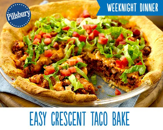 Take your taco night up a notch! This East Crescent Taco Bake is so easy and delicious it will quickly become a weeknight go-to. Loaded high with ground beef, cheese, lettuce and tomatoes everyone in your family will enjoy this meal.