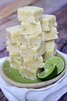 Key Lime Fudge #Recipe via RecipeGirl.com @RecipeGirl {recipegirl.com}