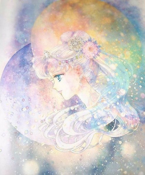 "sailormoonmerchandisenews: ""Another new Sailor Moon manga illustration featured at the Sailor Moon Exhibition"" by Naoko Takeuchi"